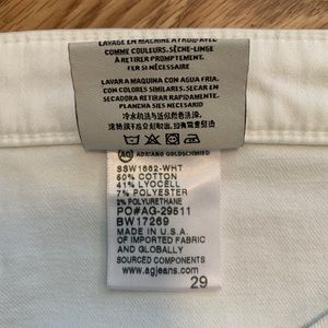 Ag Adriano Goldschmied Jeans - AG The Jodi Crop White 29 Stretch Twill